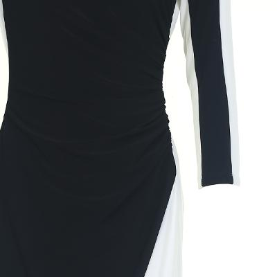 two tone detail dress multi